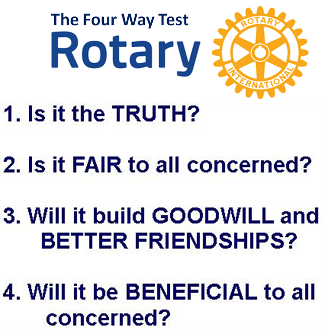 rotary four way test essay contest