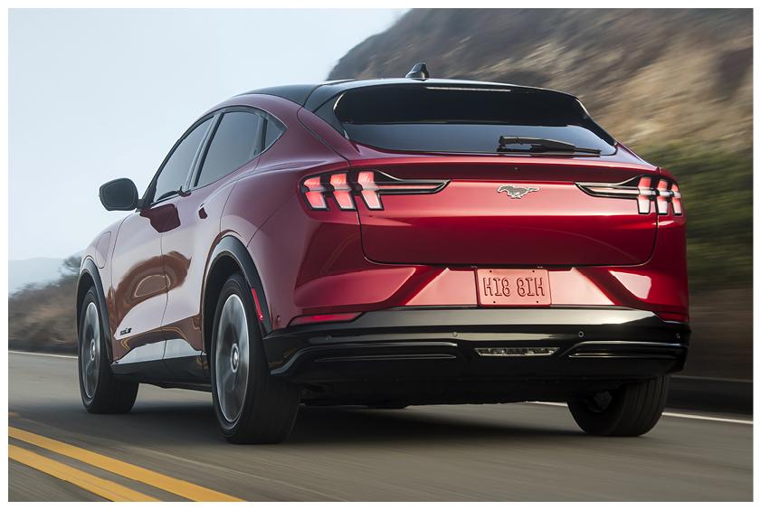 Mustang Mach E back view
