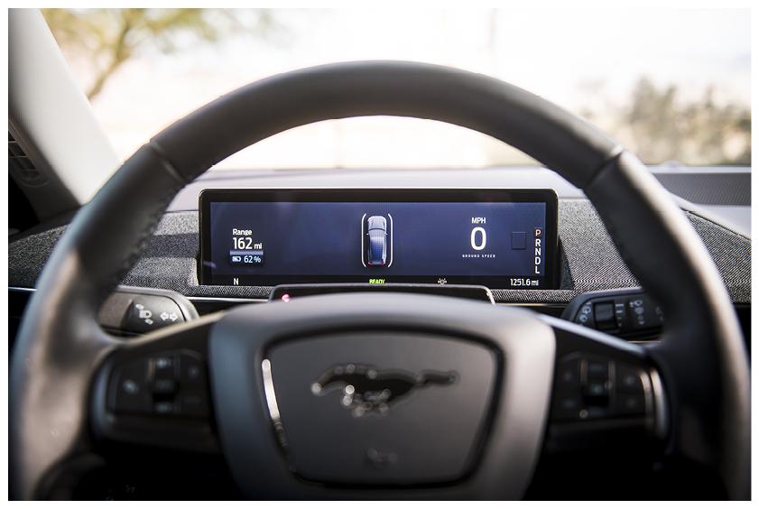 Mustang Mach E steering wheel